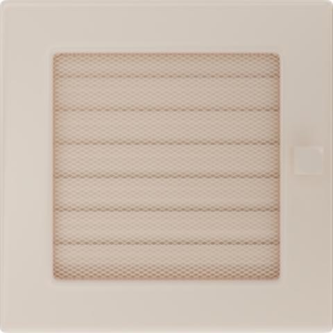 Вентиляционная решетка Кремовая с задвижкой (17*17) 17KX