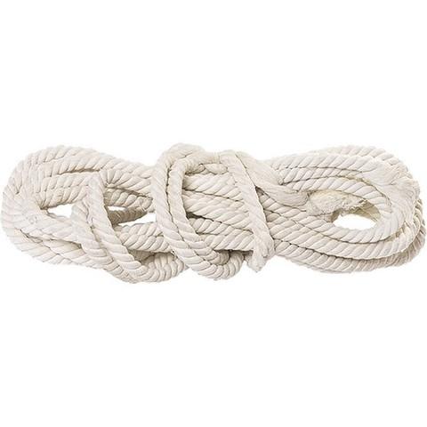 Веревка х/б, D 12 мм, L 11 м, крученая, 299 кгс Россия Сибртех