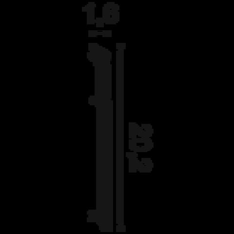 Плинтус Byblos DUROPOLYMER® SX156 HIGH HEELS