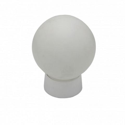 Плафон с основанием, белый, пр.Китай, диаметр 14см.