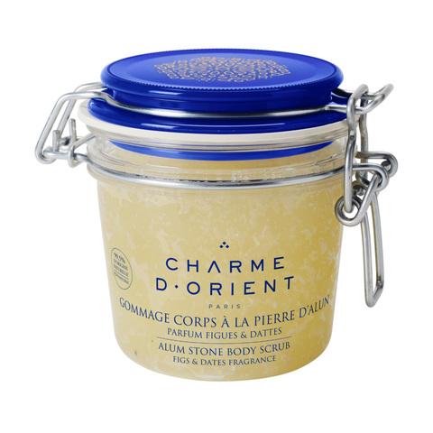 CHARME D'ORIENT | Гоммаж квасцовый с ароматом инжира и финика / Gommage corps à la pierre d'alun parfum Figues, (300 г)