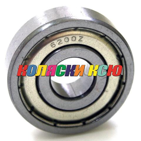 Подшипник 6200 ZZ железная заглушка (вн.диаметр 10мм, наруж диам 30мм, ширина 9мм) №009029 для детской коляски