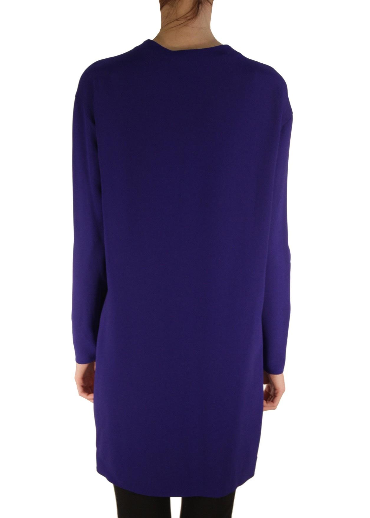 Платье двухцветное из шерсти и вискозы STELLA MCCARTNEY