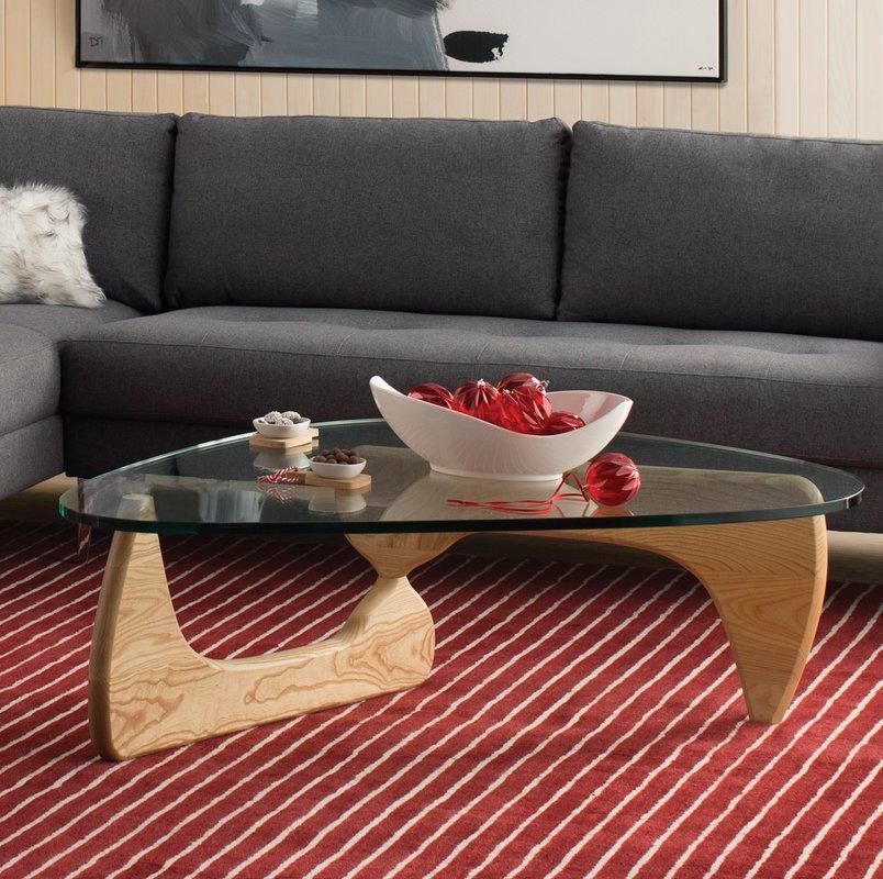 Стол журнальный Isamu Noguchi Style Coffee Table орех - вид 2