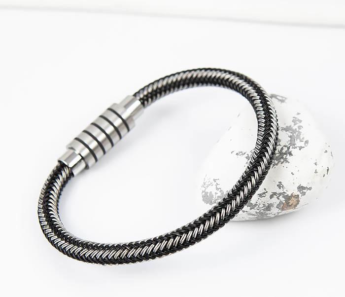 BM516 Мужской браслет из стальной проволоки (19 см) фото 06
