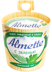 """Сыр творожный """"Almette"""" с зеленью, 150 г"""