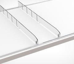 Пластиковый разделитель обламывающийся высотой 30 мм, DIV30-В длина 185-385 мм, без ограничителя