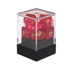 Набор разногранных малиновых прозрачных кубиков