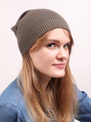 Демисезонная однотонная шапочка с резинкой, цвет хаки.