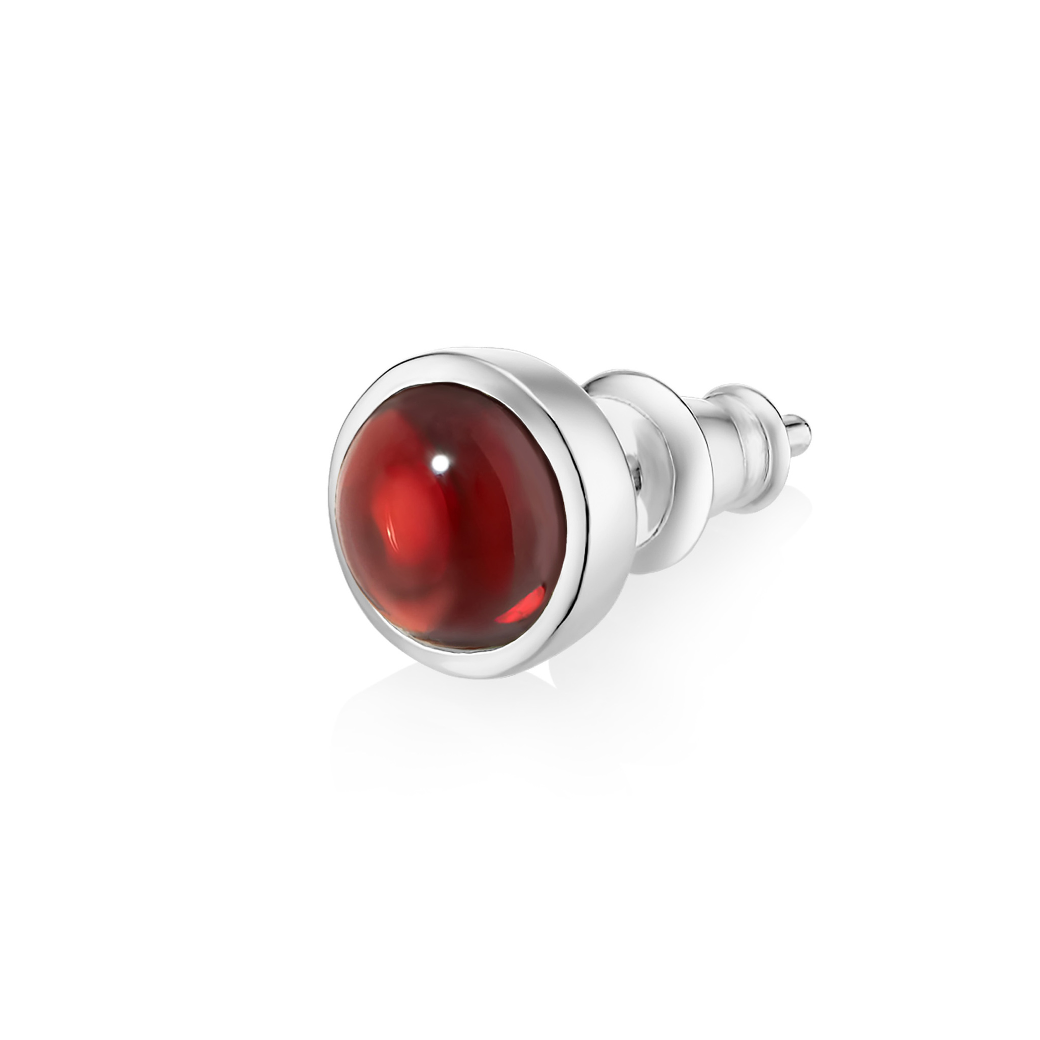Моносерьга ALPHA - Красный гранат
