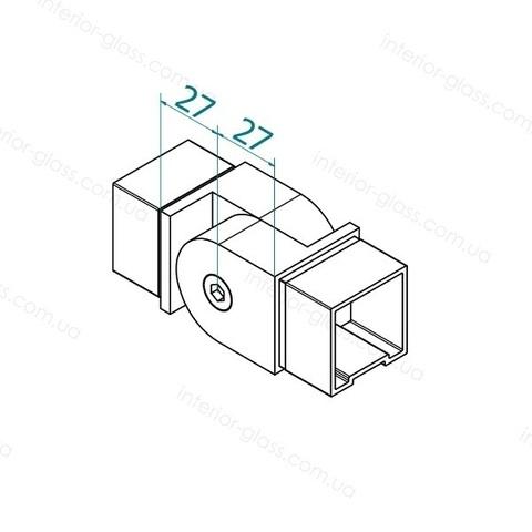 Соединитель поручня 40*40 мм ST-451 шарнирный