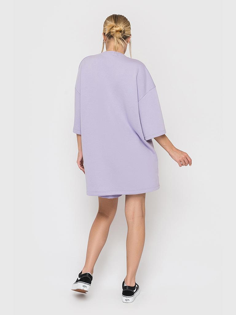 Костюм футер трехнитка (шорты и футболка) лиловый YOS от украинского бренда Your Own Style