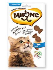 Лакомые кусочки для кошек Мнямс в форме рыбок со вкусом лосося