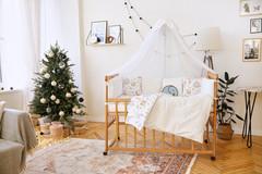 Комплект постельного белья для новорожденных с бортиками-защитой Верона - 2 Зверята + сердца