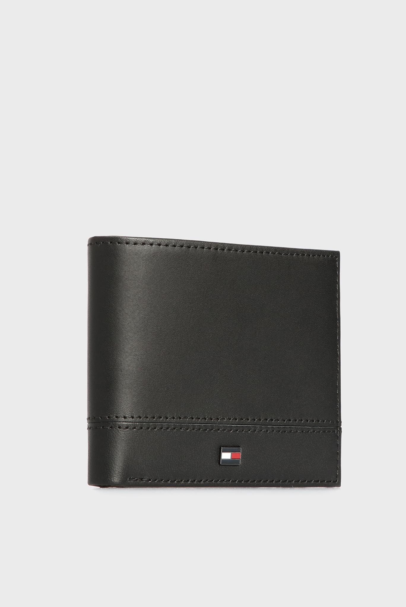 Мужской черный кожаный кошелек TH ESSENTIAL MINI CC Tommy Hilfiger
