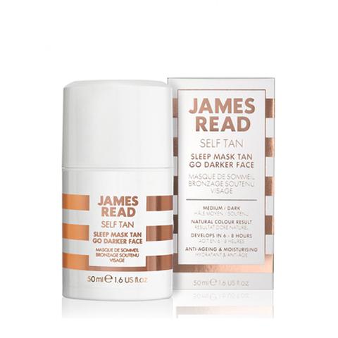 Ночная маска для лица уход и загар темная James Read Sleep Mask Face Tan- Dark