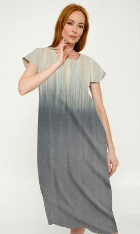 Платье из дикого шелка Сияние Рассвет