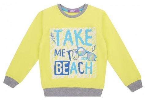 Свитшот (пуловер) для мальчика, цвет: лимонный купить