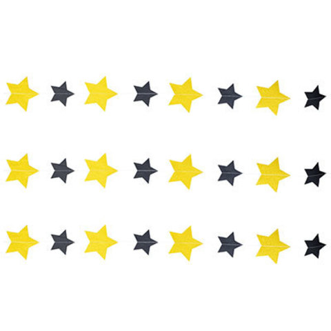 Гирлянда на нити Звёзды Black&Gold