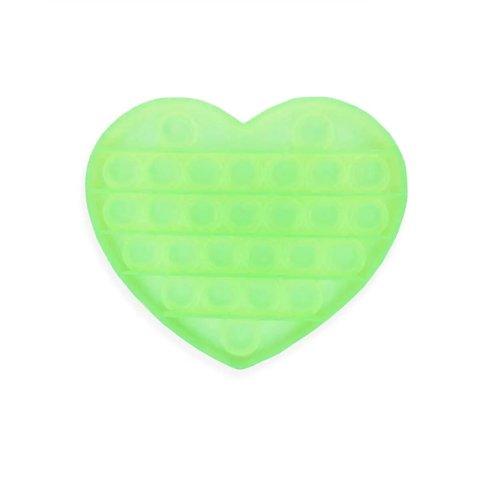 Антистресс игрушка Pop It, сердце, светится в темноте