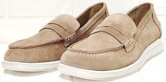 Лоферы женские. Туфли на низком каблуке Anna Lucci 2706-040 S Beige.