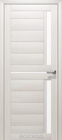 Дверь Восход Дельта, стекло сатин, цвет лиственница снежная, остекленная