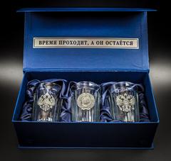 Подарочный набор из 3 граненых стаканов «Неподвластный времени», фото 1