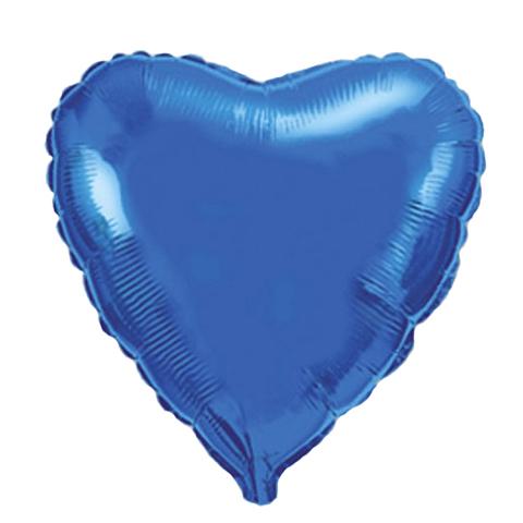 Шар-сердце синий, 45 см