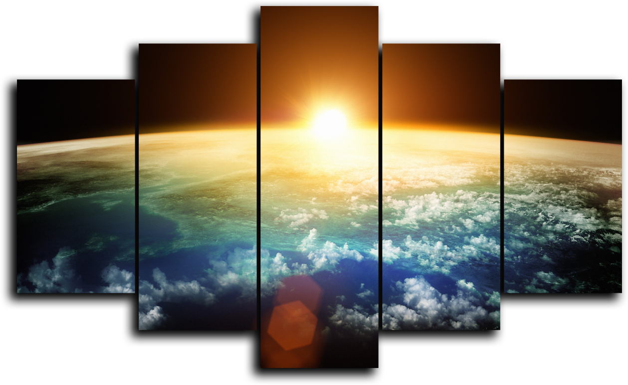 """Космос Модульная картина """"Вселенная земля"""" М941.png"""