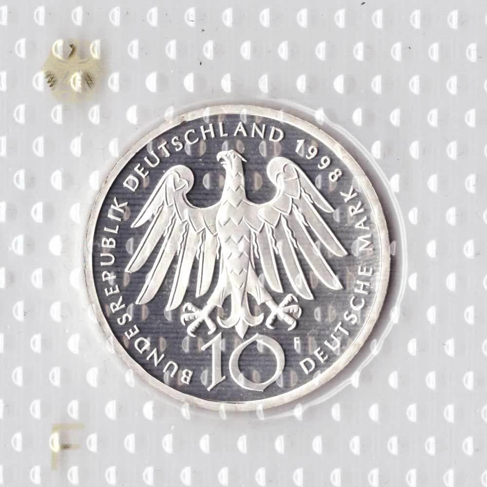 10 марок. 900 лет со дня рождения Хильдегард из Бингена (F) Серебро. 1998 г. PROOF. В родной запайке