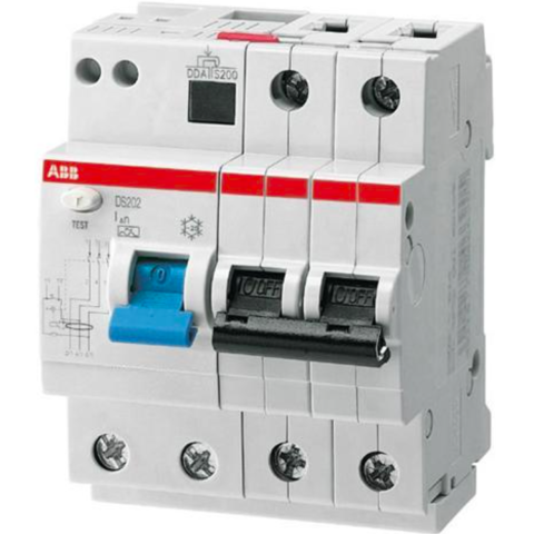 Дифф. автомат. выключатель 2-полюсный 13 А, тип AC (перемен.), 10 кА DS202 M AC-C13/0,03. ABB. 2CSR272001R1134