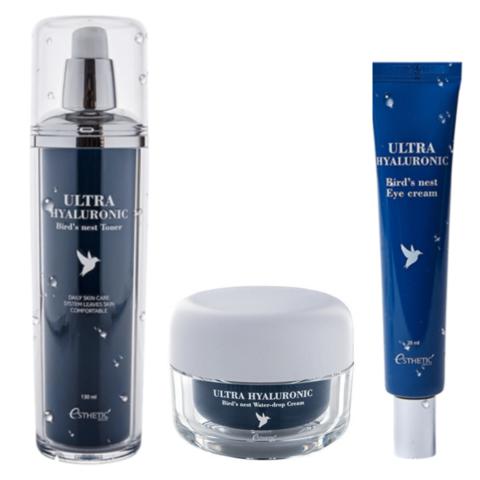 Esthetic House Набор для увлажнения кожи с экстрактом ласточкиного гнезда Тонер + Крем для лица + Крем для глаз