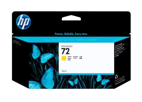 Оригинальный картридж струйный HP C9373A (№72), желтый
