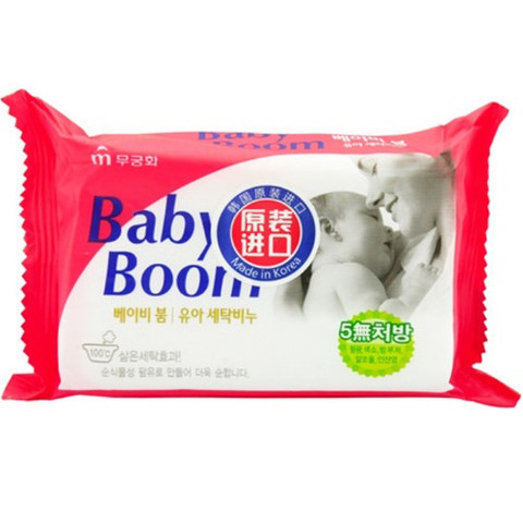 Mukunghwa Baby Boom Мыло хозяйственное для стирки десткой одежды 150 гр /60