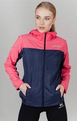 Ветро и водозащитная куртка с капюшоном Nordski Rain Coral-Navy женская