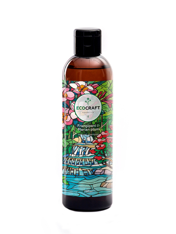 ECOCRAFT Шампунь для укрепления и восстановления волос Frangipani and Marian plum Франжипани и марианская слива (250 мл)