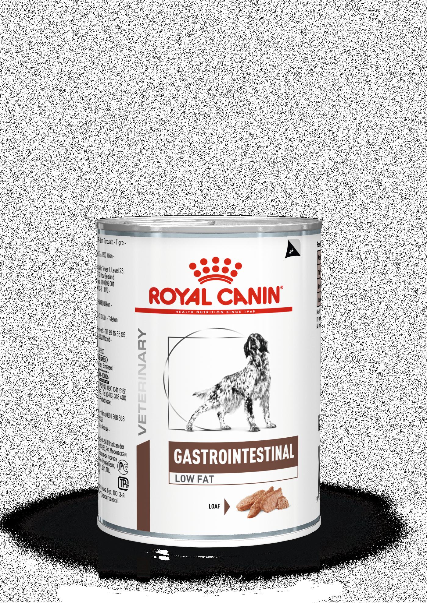 Royal Canin Консервы для собак, Royal Canin Gastro Intestinal Low Fat, при нарушениях пищеварения и экзокринной недостаточности поджелудочной железы 9003579309483_1.png