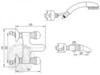 Смеситель для ванны Korona Swarovski ML.KRN- 4702 схема