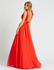 Красное платье в пол Mac Duggal 81500