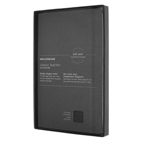 Блокнот Moleskine LIMITED EDITION LEATHER LCLH31SBKBOX Large 130х210мм натур. кожа 192стр. линейка мягкая обложка черный