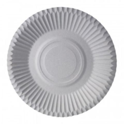 Тарелка одноразовая бумажная белая 230 мм 50 штук в упаковке