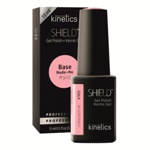 KINETICS Базовое покрытие нюдовое для гель-лака SHIELD Nude Base 15 мл (903 - розовый)
