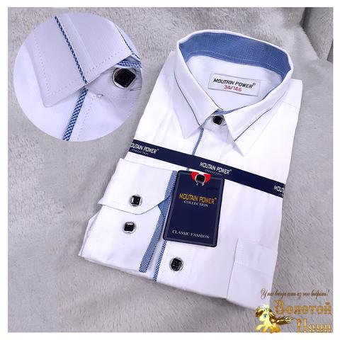 Рубашка рубчик мальчику (116-164) 210531-МР9641.4