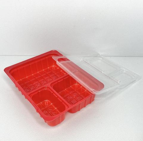 Упаковка І ПС - 66 мордочка (вассаби, имбирь, соевый соус) дно красное
