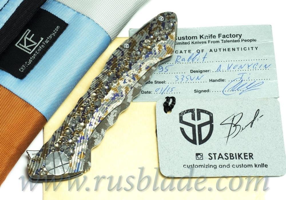 CKF Custom Rabbit Dragon Spine (Konygin design, s35vn, titanium, bearings)