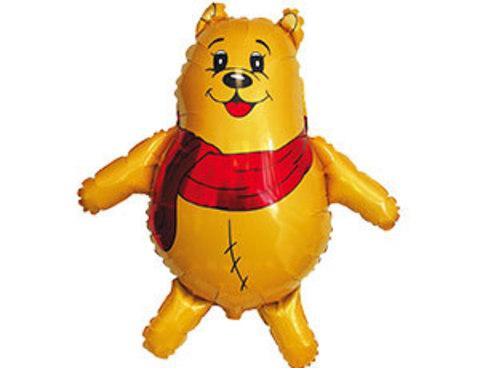 Фольгированный шар Мишка с шарфом
