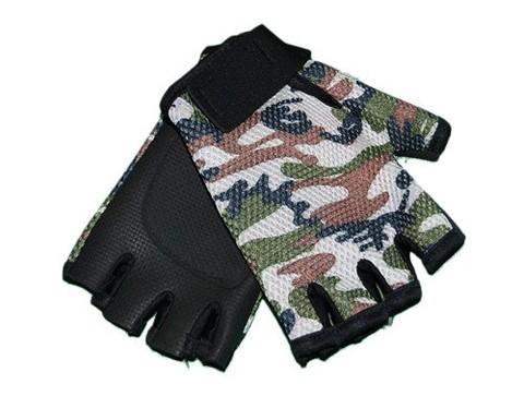 Перчатки велосипедные, материал - неопрен+сетка. Защитного  цвета :(2020):