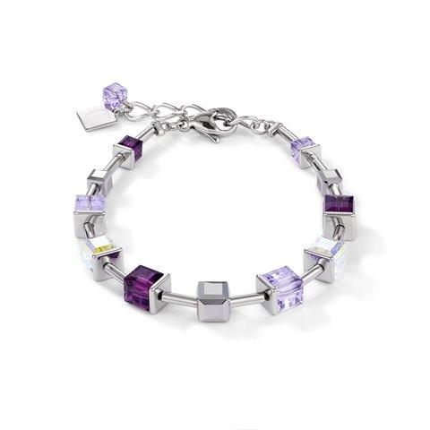 Браслет Amethyst 4996/30-0824 цвет фиолетовый, прозрачный