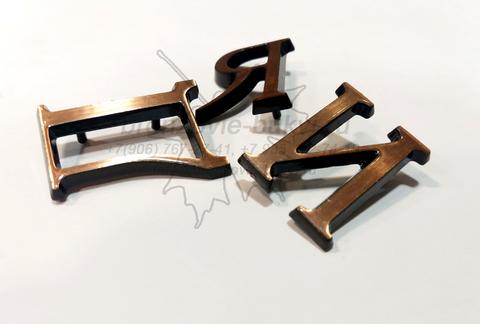 Бронзовые буквы и цифры Caggiati на памятник 3см