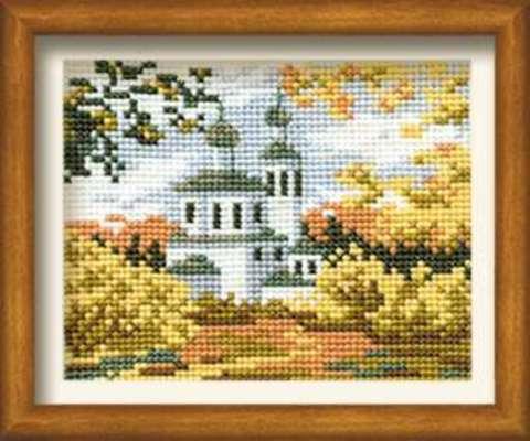 Набор для вышивания крестом «Осень в деревне» (631)